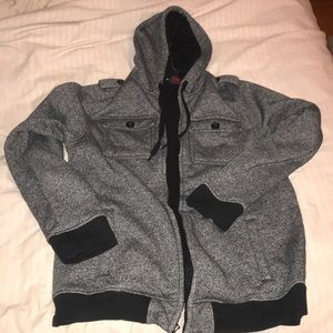 Men's fleece-lined zip up